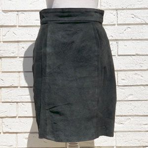 "Dresses & Skirts - Vintage suede knee length skirt 28"" x 20.75"" NS"